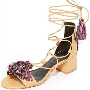 Rebecca Minkoff lace up sandals